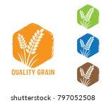 polygon shape vector design... | Shutterstock .eps vector #797052508