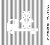truck with bear. vector. white... | Shutterstock .eps vector #797054722