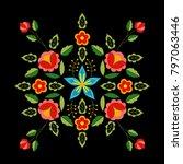 polish folk pattern vector.... | Shutterstock .eps vector #797063446