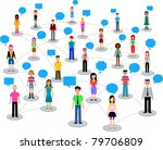 many different people | Shutterstock .eps vector #79706809