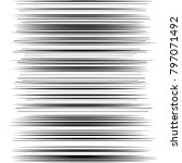 comic horizontal speed lines... | Shutterstock .eps vector #797071492