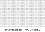 seamless black and white mosaic ... | Shutterstock . vector #797074552