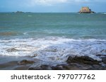 saint malo  france   march 25 ... | Shutterstock . vector #797077762