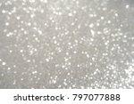silver texture christmas... | Shutterstock . vector #797077888