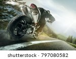 championship of motocross  side ... | Shutterstock . vector #797080582