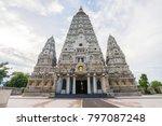bodh gaya  mahabodhi temple ... | Shutterstock . vector #797087248