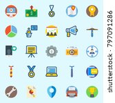 icons set about digital... | Shutterstock .eps vector #797091286