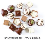 assorted chocolates candies for ... | Shutterstock . vector #797115016