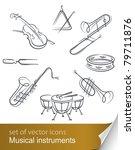 Set Musical Instrument Vector...