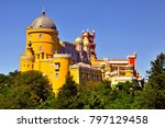 the famous pena palace in... | Shutterstock . vector #797129458