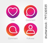 app icon template. raster... | Shutterstock . vector #797130535