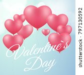 cover for valentines day. pink... | Shutterstock .eps vector #797130592