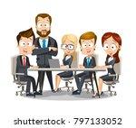 vector illustration of business ... | Shutterstock .eps vector #797133052