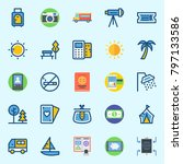 icons set about travel. with... | Shutterstock .eps vector #797133586