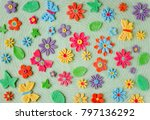 easter colorful background with ... | Shutterstock . vector #797136292