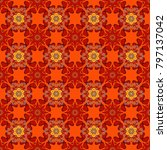 seamless pattern tile with... | Shutterstock . vector #797137042