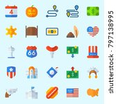 icons set about united states.... | Shutterstock .eps vector #797138995