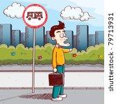 bus stop | Shutterstock .eps vector #79713931