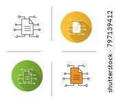digital document icon. flat... | Shutterstock . vector #797139412