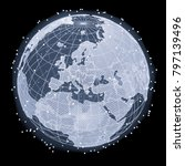 abstract telecommunication... | Shutterstock . vector #797139496