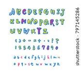 vector fonts   handwritten...   Shutterstock .eps vector #797145286
