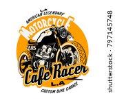 vector cafe racer illustration... | Shutterstock .eps vector #797145748