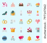 icons set about wedding. with... | Shutterstock .eps vector #797147062