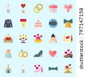 icons set about wedding. with... | Shutterstock .eps vector #797147158