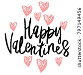 happy valentine day hand... | Shutterstock .eps vector #797149456