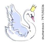 swan illustration bird | Shutterstock . vector #797150236