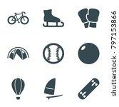 recreation icons. set of 9...   Shutterstock .eps vector #797153866