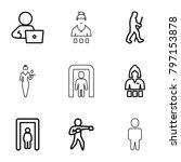adult icons. set of 9 editable...   Shutterstock .eps vector #797153878