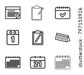 agenda icons. set of 9 editable ... | Shutterstock .eps vector #797153926