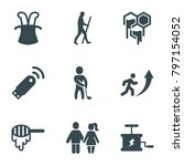 stick icons. set of 9 editable... | Shutterstock .eps vector #797154052