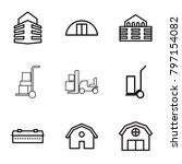 warehouse icons. set of 9... | Shutterstock .eps vector #797154082