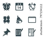 reminder icons. set of 9...   Shutterstock .eps vector #797154112