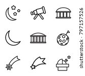 astronomy icons. set of 9...   Shutterstock .eps vector #797157526