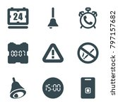 alarm icons. set of 9 editable... | Shutterstock .eps vector #797157682