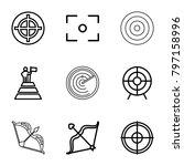 target icons. set of 9 editable ...   Shutterstock .eps vector #797158996