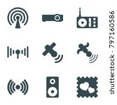wireless icons. set of 9...   Shutterstock .eps vector #797160586