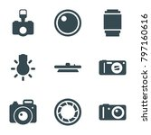 photographic icons. set of 9...   Shutterstock .eps vector #797160616