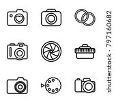 photographic icons. set of 9...   Shutterstock .eps vector #797160682