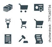 sell icons. set of 9 editable... | Shutterstock .eps vector #797160736