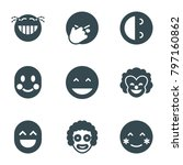 laughing icons. set of 9... | Shutterstock .eps vector #797160862
