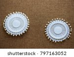 pin set for sewing on dark... | Shutterstock . vector #797163052