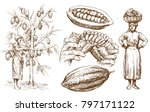 chocolate collection   hand... | Shutterstock .eps vector #797171122