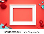 valentines day background. copy ... | Shutterstock . vector #797173672