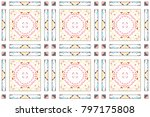 colorful mosaic seamless... | Shutterstock . vector #797175808
