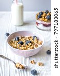 homemade fitness granola with... | Shutterstock . vector #797183065