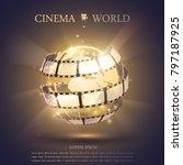 cinema banner illustration | Shutterstock .eps vector #797187925
